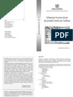 Schema per la prescrizione dei prodotti vetrari per l'edilizia
