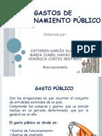 GASTOS FUNCIONAMIENTO PÚBLICO