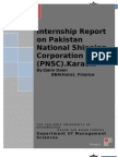 PNSC- Internship Report (Pakistan National Shipping Corporation)
