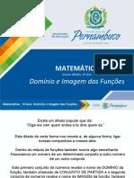 Funções - Domínio e imagem das Funções