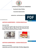 3) Gastronomía de Vanguardia II -ADITIVOS