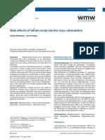 Side effects of whole-body electro-myo-stimulation