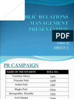 final PUBLIC RELATIONS MANAGEMENT