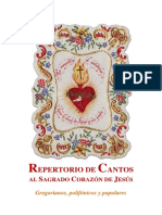 148408000 Repertorio de Cantos Al Sagrado Corazon de Jesus Gregorianos Polifonicos y Populares