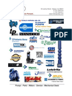 Metro Pumps and Systems, Inc. Linecard