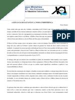 A EFICÁCIA DE SATANÁS E A NOSSA INDIFERENÇA