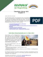 Greenpeace-Gruppe Regensburg - Newsletter 71 vom 27.02.2011