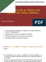 Introducción de Modelo de Regresión Lineal General