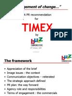 TIMEX PR Proposal R 25th Oct 2007