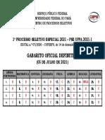 Gabarito Oficial Definitivo Pse 2021-1
