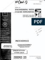 Engineering With Nuclear Explosives (Vol. 1.) Symposium, 1970