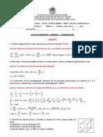 Exercicios sobre  Prismas - Continuacao - Gabarito