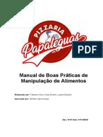 Manual de Boas Práticas de Manipulação de Alimentos
