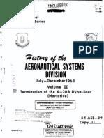 AFSC HPS 64-51-III (Termination of X-20)