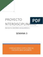 Proyecto Interdisciplinario Tercer Año S3
