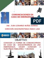 COMUNICACIONES EN CASO DE EMERGENCIA