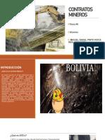 DIAPOSITIVAS CONTRATOS MINEROS EN BOLIVIA