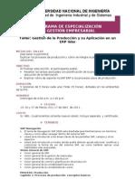 Gestión de Producción ERP