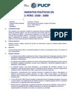 Sílabo Movimientos politicos en el Peru_junio2021