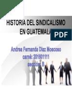 Las Etapas de Sindicalisacion en Guatemala