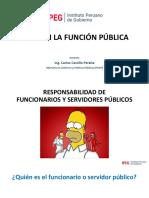 Responsabilidades de los funcionarios y servidores públicos