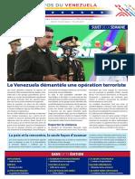 Venezuela Informează| Buletin Săptămânal 16.07.2021 - versiune limba franceza