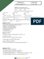 Devoir de Synthèse N°1 1er Semestre - Math - 3ème Economie & Gestion (2018-2019) Mr Taieb Gharbi