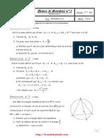 Devoir de synthèse N°2 - Math - 2ème Info (2009-2010) Mr MEDDEB Tarak