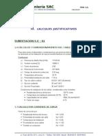 Cálculos Justificativos - 10 kV