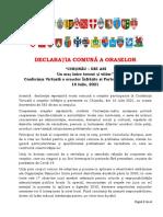 Declaratie Comuna a Oraselor
