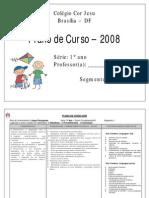 plano de curso  2008 sugestão