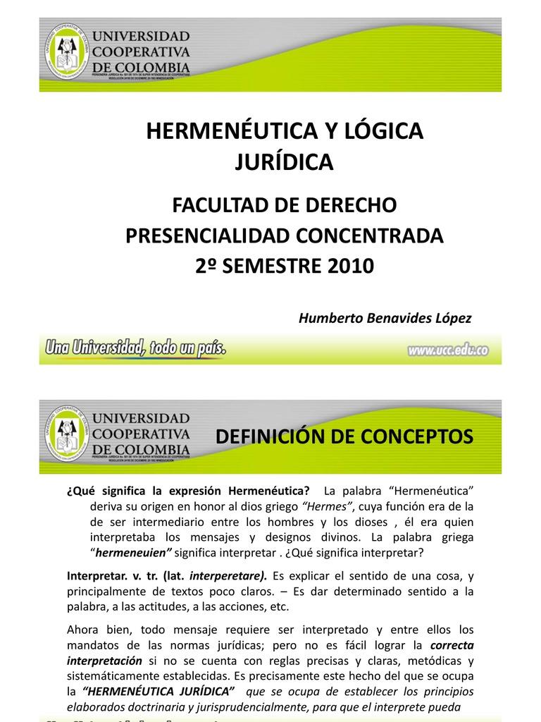 Hermeneutica Juridica Fuentes Del Derecho Interpretación