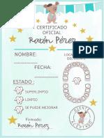 Certificado Ratón Pérez - OyoOllo