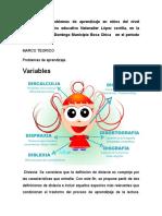 Incidencia de Problemas de Aprendizaje en Niños Del Nivel Primario Del Centro Educativo Natanalier López Zorrilla