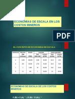 economias de escala en los costos mineros