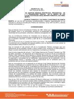 Decreto 152 del 15 de Julio en Santa Marta