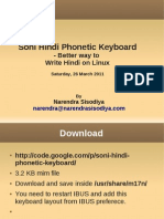 Soni Hindi Phonetic Keyboard