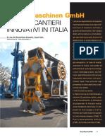 BAUER_Cantier tecnologie innovative utilizzate in Italia