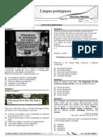 EXERCÍCIOS - ACESSO - ENEM (25-09)