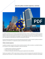 Generalidades sobre Política Monetaria