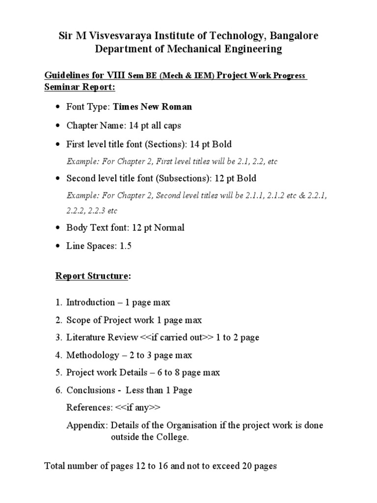 vtu project report guidelines
