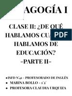 PEDAGOGÍA I- 1°2°- ISFD41 - TP N°2 - MARINA BOLLO-