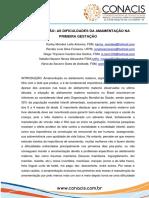 AS DIFICULDADES DA AMAMENTACAO NA PRIMEIRA GESTACAO