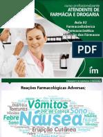 AULA 02 Farmacodinamica Farmacocintética e Absorção Alunos