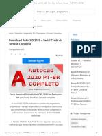 Download AutoCAD 2020 + Serial Crack via Torrent Completo - THE PIRATE GRATIS