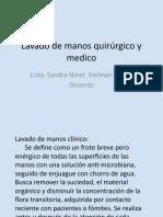 Lavado de manos quirúrgico y medico 21-04-2021