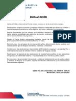 JULIO 16 - Declaración Cuba