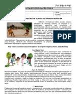 ATIVIDADE EDUCAÇÃO FÍSICA - JOGOS E BRINCADEIRAS INDÍGENAS