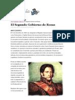 Segundo Gobierno de Rosas