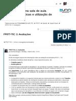 2. AVALIAÇÕES FP077 AS TIC NA SALA DE AULA Campus Virtual